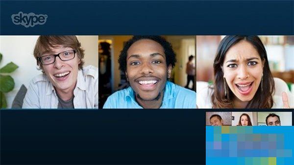 Win8.1版Skype更新:免费群组视频聊天