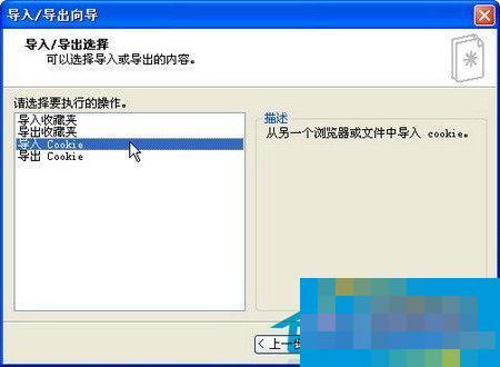 WinXP如何导入Cookie信息