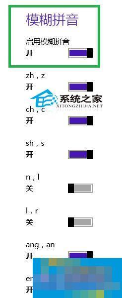 Win8.1微软拼音设置模糊音的操作方法