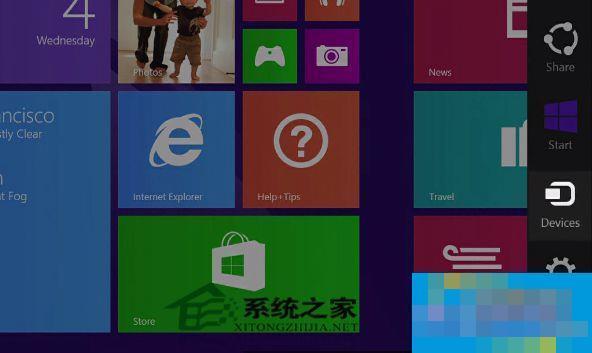 """Win8系统""""设备""""超级按钮的使用教程"""