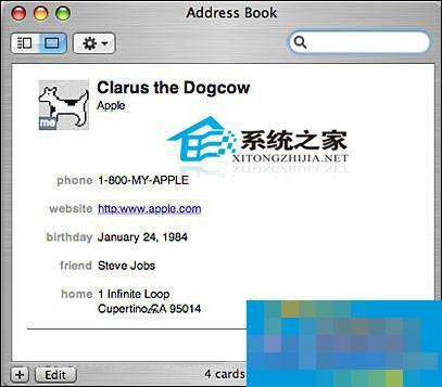 Mac中怎么管理我们的通讯录?