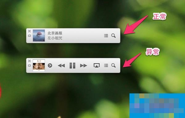 MAC系统iTunes 11 Mini Player一直显示控制按钮怎么办?