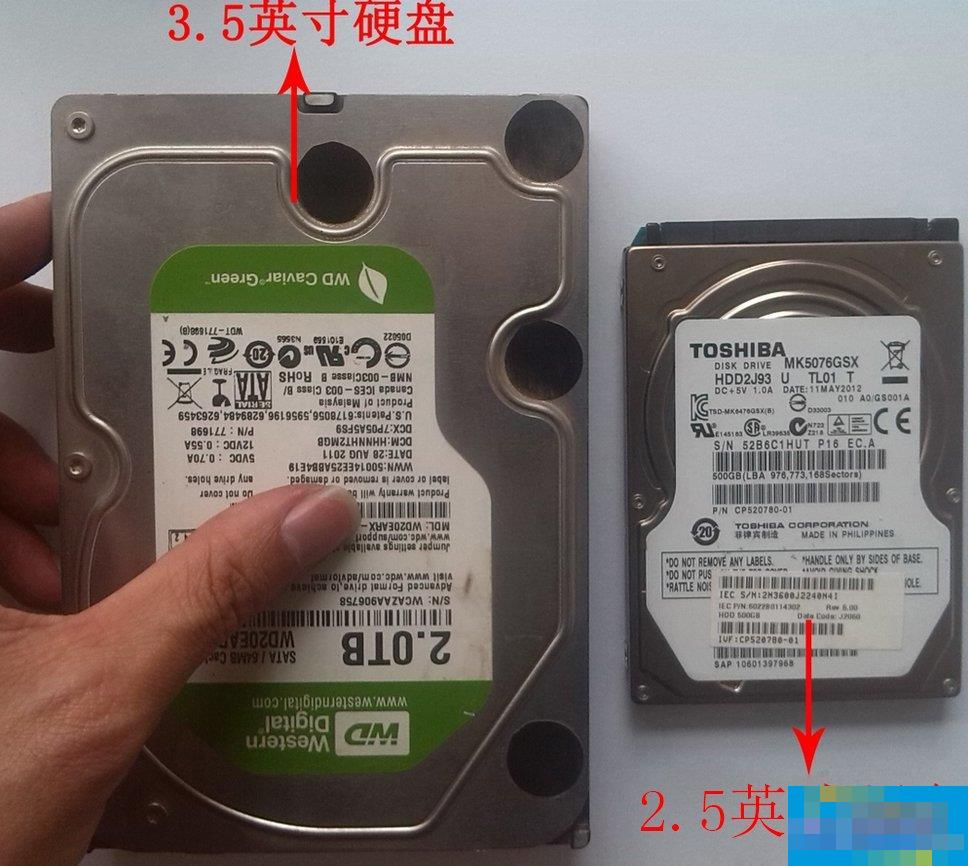 台式机硬盘和笔记本硬盘都有哪些区别?