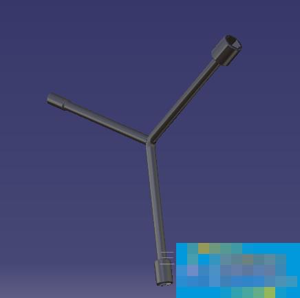 CATIA如何設計一個三叉套筒的零件模型